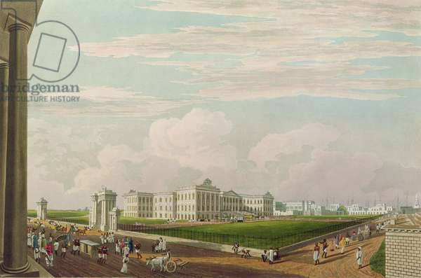 A View of Government House, Calcutta, 1826, engraved by Robert Havell the Younger (1793-1878) (aquatint)