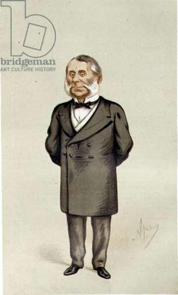 Sir Edward Watkin, 'Spy' cartoon from Vanity Fair, pub. 1875