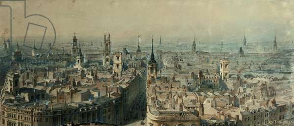 View of London from Monument looking North, 1848