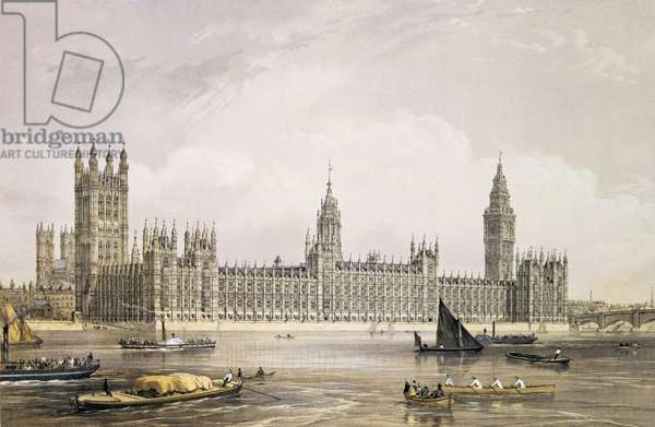 The New Houses of Parliament, engraved by Thomas Picken (fl.1838-d.1870) pub. 1852 by Lloyd Bros. & Co. (lithograph)