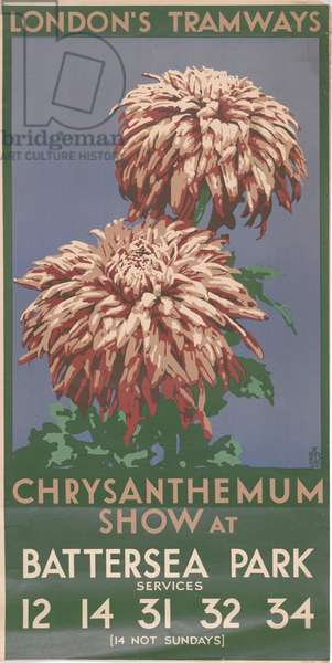 Chrysanthemum Show Battersea Park, 1931 (colour litho)