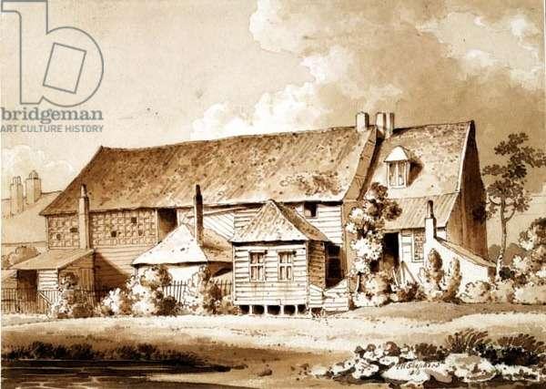 John Bunyan's Meeting House, Zoar Street, Gravel Lane, Southwark, London, 1813 (pencil & wash)