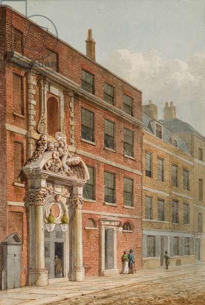 The Merchant Taylors' Hall, London, c.1810 (w/c)