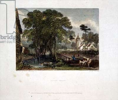 Tooting Church, engraving by J D Harding & G Cooke, 1827