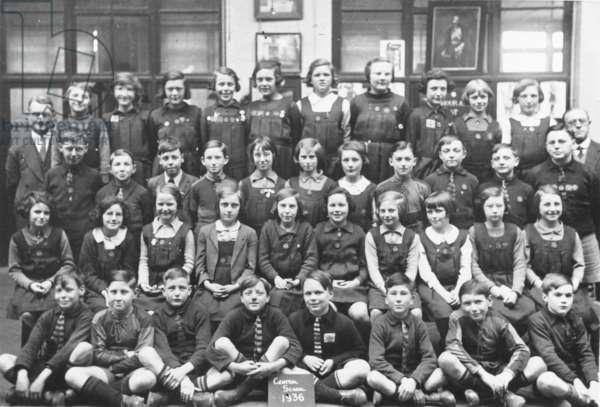 Schoolchildren, Ellerslie Road Junior School, 1936 (b/w photo)