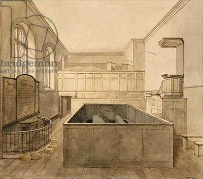 The Chapel, Newgate Prison (w/c)
