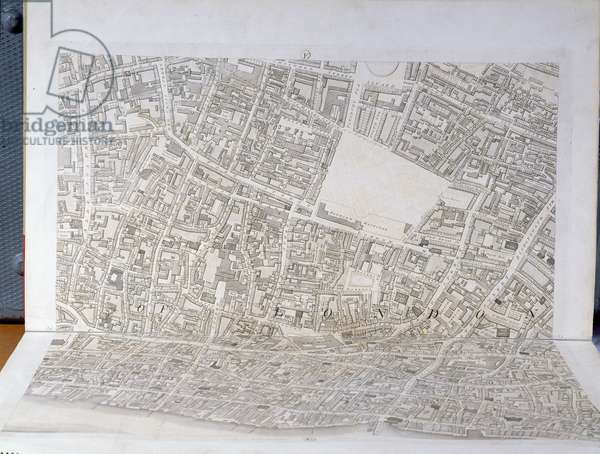 Plan of the City of London, published 1813 (engraving) (see 247354-247356)