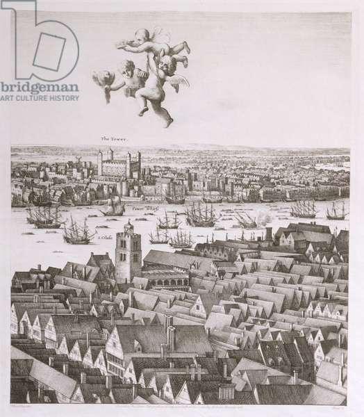 View of London, published 1647 (engraving) (facsimile copy) (detail)