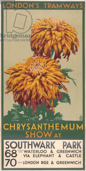Chrysanthemum Show, Southwark Park, 1930 (colour litho)