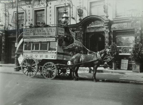 Private horse-drawn coach, 1910 (b/w photo)