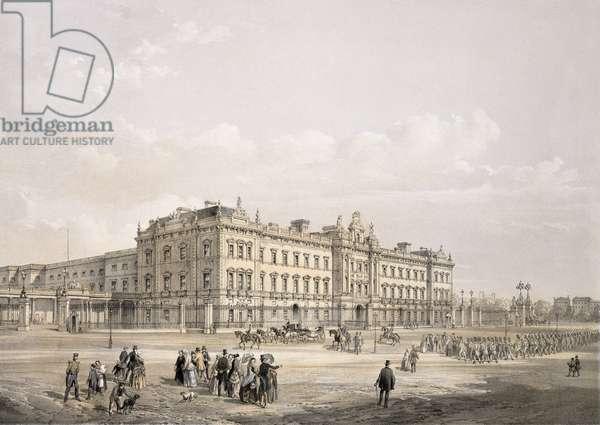 Buckingham Palace, engraved by Thomas Picken (fl.1838-d.1870), pub. 1852 by Lloyd Bros. & Co. (lithograph)