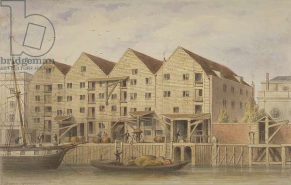 View of Chamberlain's Wharf, Tooley Street, 1846 (w/c on paper)