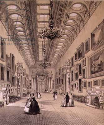 The Picture Gallery at Buckingham Palace, c.1880 (lithograph)
