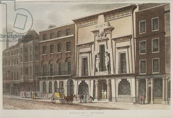 View of Bullock's Museum, better known as the Egyptian Hall, on Piccadilly, 1815 (aquatint)