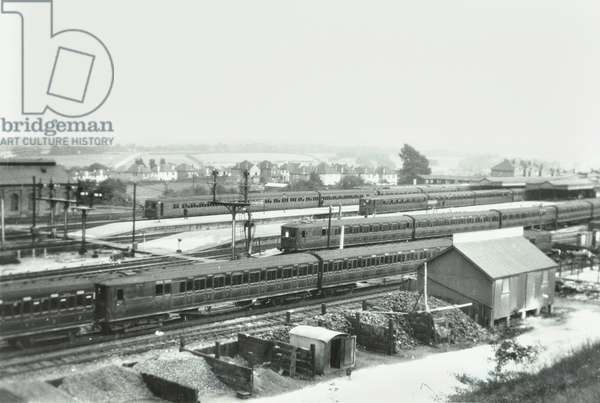 Orpington Station: general view, 1930 (b/w photo)
