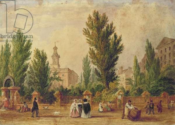 The Danish Church in Wellclose Square, London (w/c)