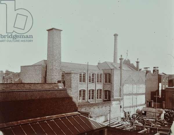 Hubbuck's Wharf, 77 Broad Street: rear elevation, 1907 (b/w photo)