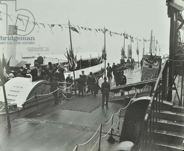 Inauguration of the Steamboat Service by His Royal Highness the then Prince of Wales, King George V, 1905 (b/w photo)