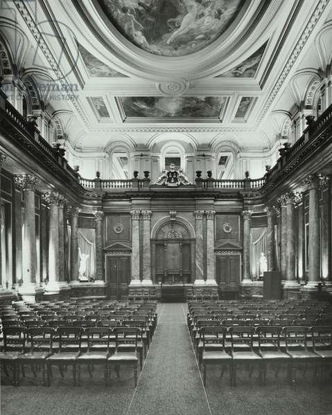 Livery Hall, Drapers' Hall, Throgmorton Avenue, City of London, 1977 (b/w photo)