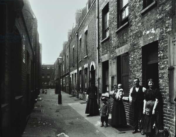 Falcon Court: general view, London, 1900 (b/w photo)
