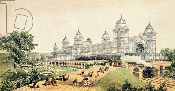 Alexandra Palace, published by J.King & Son, 1873 (colour litho)