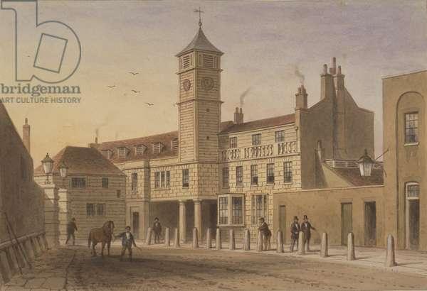 View of Bridge House in Bridge Yard, Tooley Street, 1846 (w/c on paper)