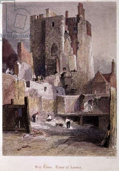 Tower of London: The Salt Tower, 1851 (proof etching)