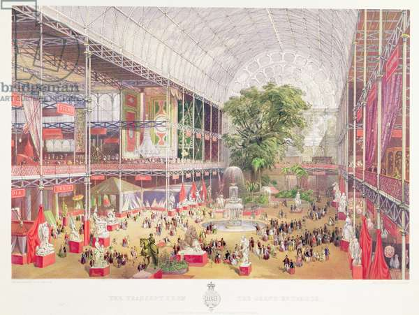 The Transept of the Crystal Palace from the Grand Entrance, 1851 (chromolitho)