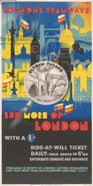 See More Of London With 1 Shilling, 1933 (colour litho)