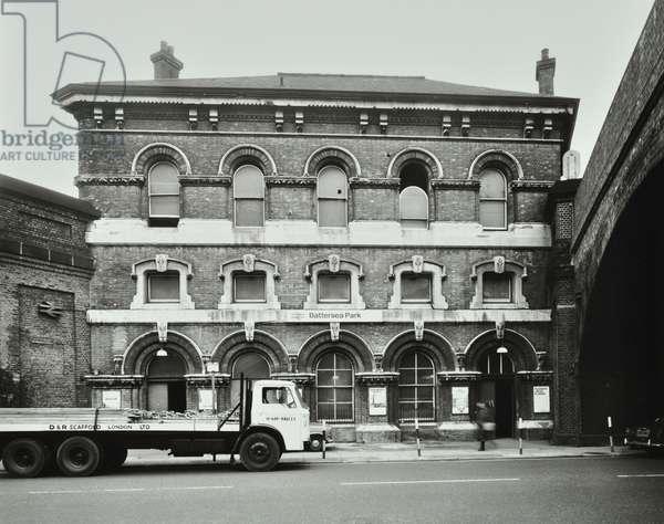 Battersea Park Railway Station, 1978 (b/w photo)
