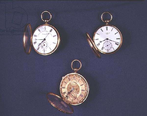 Collection of Victorian pocket watches