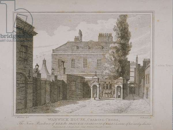 View of Warwick House, engraved by Samuel Rawle (1771-1860) and published by John Booth (1794-1855) 1818 (engraving)