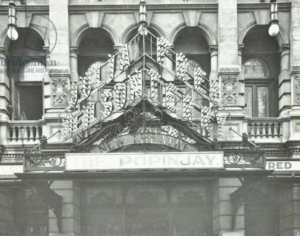 New Theatre, St. Martin's Lane, London, 1911 (b/w photo)