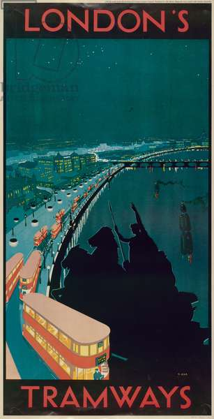 London's Tramways, 1930 (colour litho)