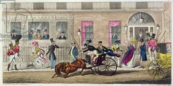 Exterior of Fishmongers Hall, a Regular Break Down, 1824 (aquatint)