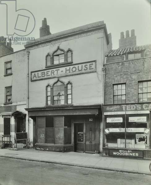 80 Royal Hill: front elevation, London, 1943 (b/w photo)