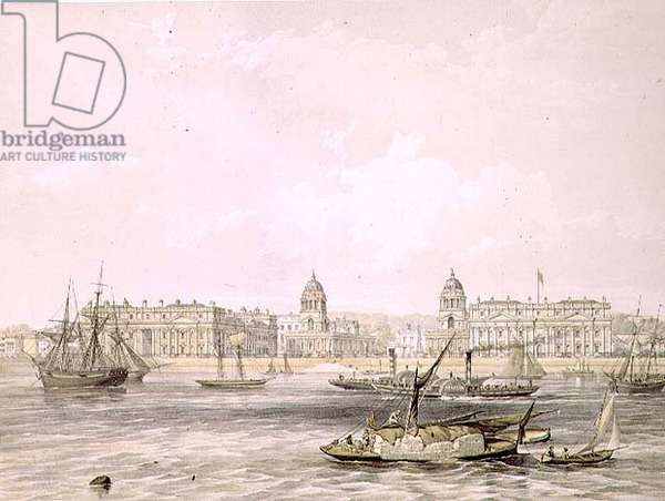 Greenwich Hospital, engraved by Thomas Picken (fl.1838-d.1870), pub. 1852 by Lloyd Bros. & Co. (lithograph)