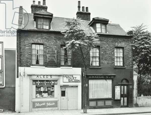 262-264 Long Lane: front elevations, London, 1957 (b/w photo)