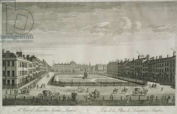 View of Leicester Square, 1753 (engraving)