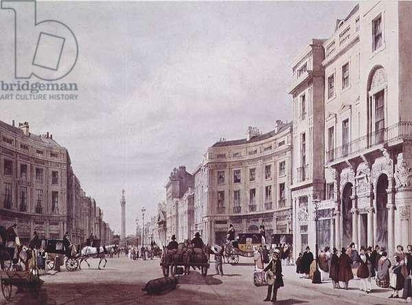 View of Regent Steet, looking towards the Duke of York's column, 1842 (litho)