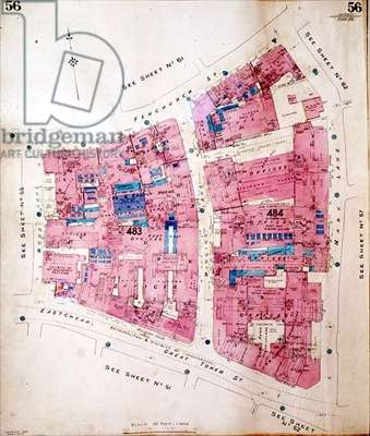 Goad Insurance Plan of Mincing Lane, City of London 1953