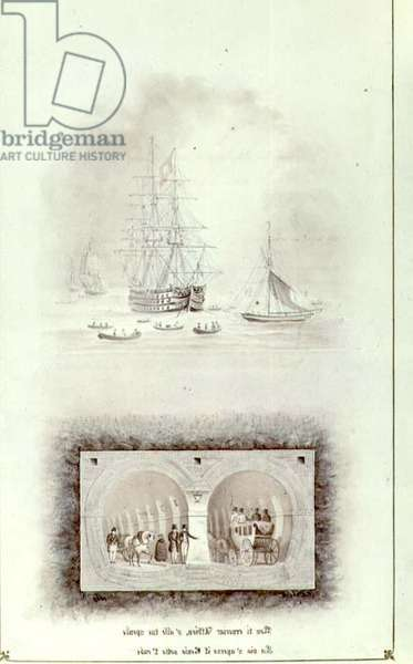 Cross section of the Thames Tunnel, by Benjamin Schlick, 1826