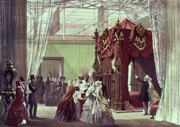 Great Exhibition, 1851: The Austrian Room (coloour litho)