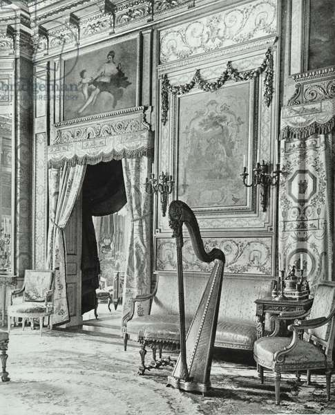 Bute House, 75 South Audley Street, Westminster LB: music room, 1902 (b/w photo)