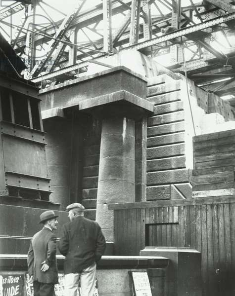 Waterloo Bridge: demolition work in progress, 1935 (b/w photo)