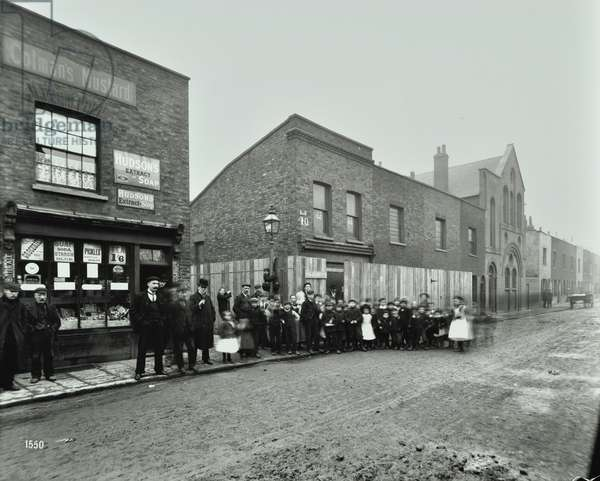 Rotherhithe Tunnel, Clarence Street: by York Place, London, 1903 (b/w photo)
