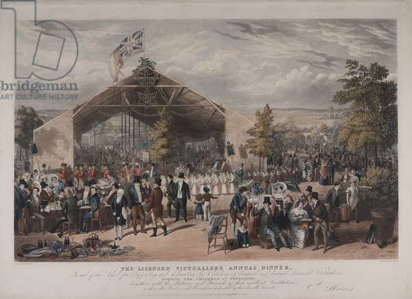 View of the Licensed Victuallers' Annual Dinner at the Mermaid Tavern, Hackney, 1866 (aquatint)