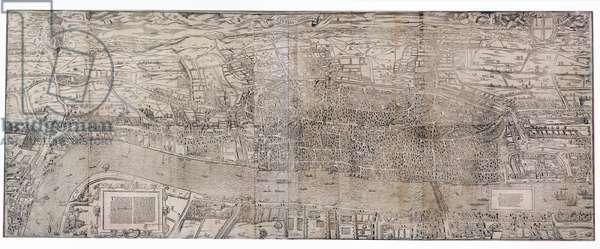'Civitas Londinum', map of London, 1560 (woodblock print)