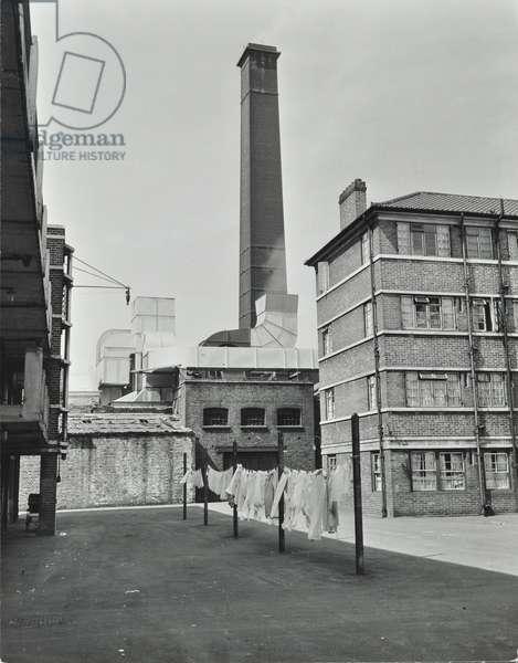Wild Rents foundry, Rothesay Street, 1956 (b/w photo)