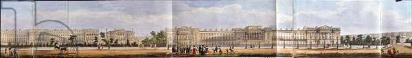 York Terrace and Cornwall Terrace, detail from 'A Panoramic View round the Regent's Park', pub. by Ackermann, 1831 (aquatint)